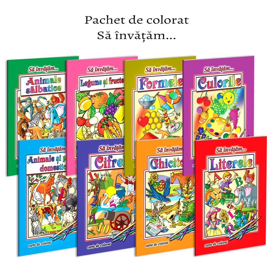 Pachet carti de colorat format A4 - 8 titluri