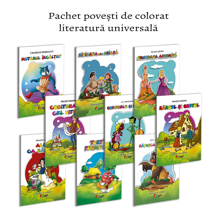 Pachet carti de colorat format A5 literatura universala